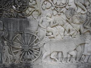 バイヨン寺院の浮き彫り(アンコール遺跡群)