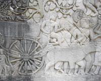 バイヨンの回廊に描かれた牛車